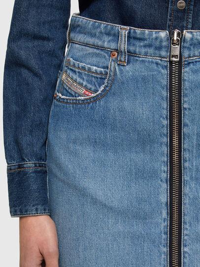 Diesel - DE-PENCIL-ZIP, Light Blue - Skirts - Image 4