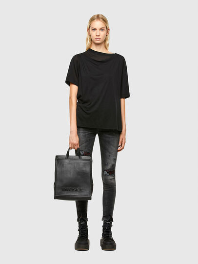 Diesel - AMETISTA, Black - Shopping and Shoulder Bags - Image 7