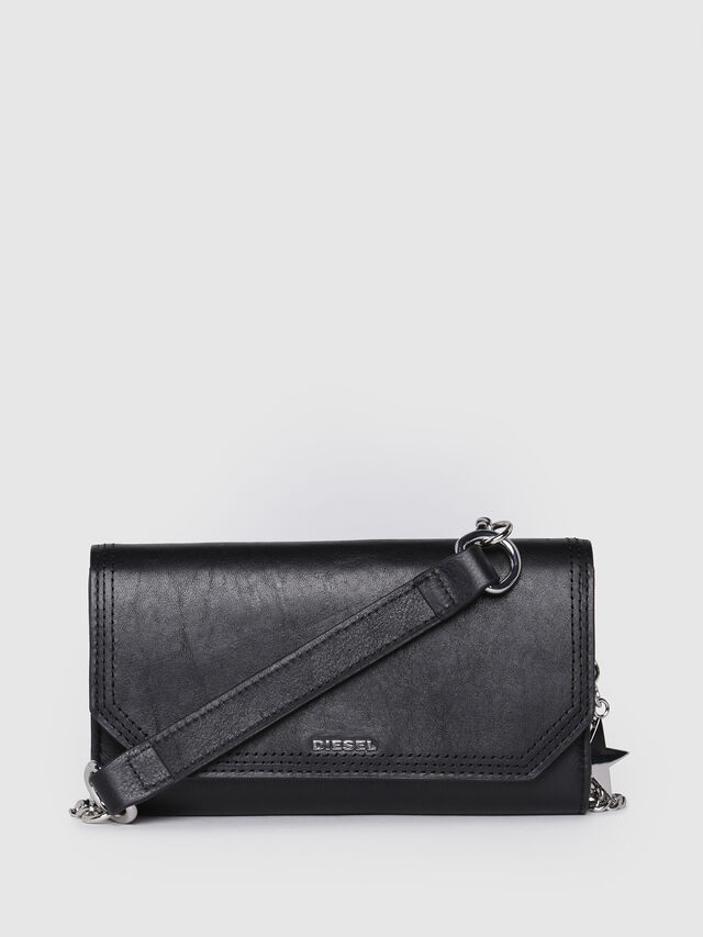 Diesel - GIPSI, Black Leather - Small Wallets - Image 1