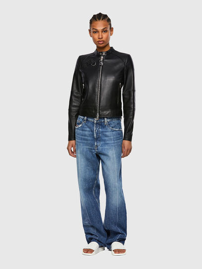 Diesel - L-SUZA, Black - Leather jackets - Image 5