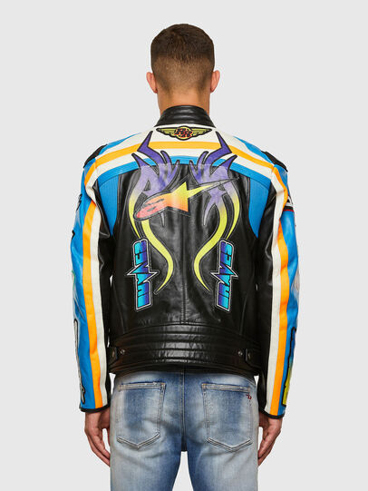 Diesel - ASTARS-LPATCH-1A-B, Black - Leather jackets - Image 2