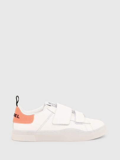 Diesel - S-CLEVER LOW STRAP W, White/Pink - Sneakers - Image 1