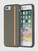 ZIP OLIVE LEATHER IPHONE 8 PLUS/7 PLUS/6s PLUS/6 PLUS CASE, Olive Green