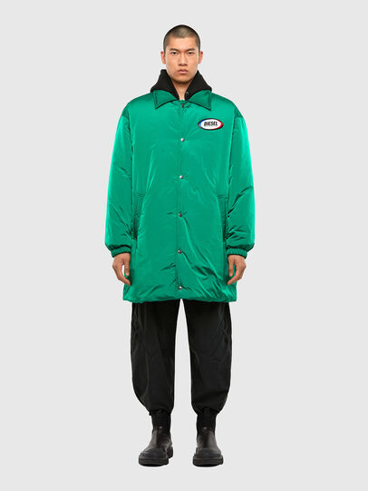 Diesel - W-KODYN, Green - Winter Jackets - Image 1
