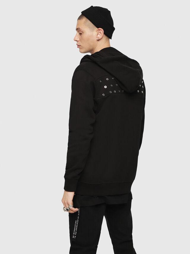 Diesel - S-GIR-HOOD-ZIP-XMAS, Black - Sweaters - Image 2