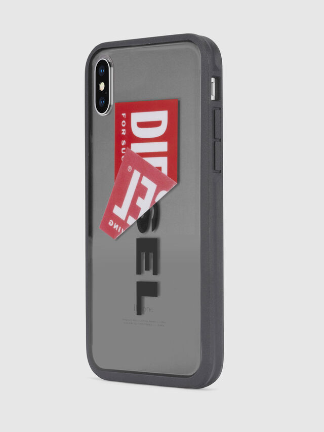 Diesel - STICKER IPHONE X CASE, Black - Cases - Image 3