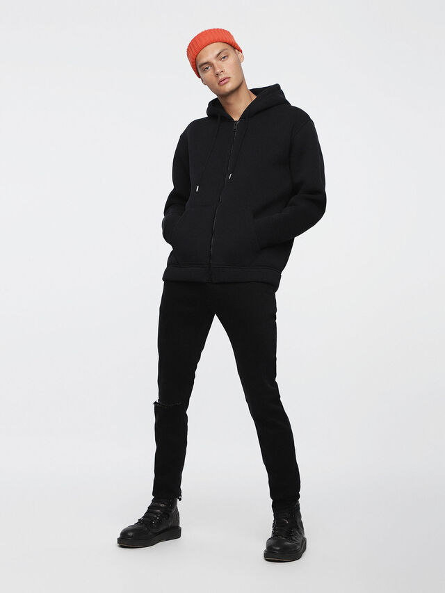 Diesel - S-GORDON-ZIP, Opaque Black - Sweaters - Image 4