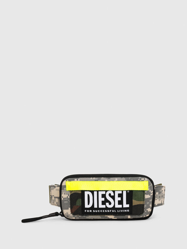 BELT RUBBER CASE BIG, Green Camouflage - Continental Wallets