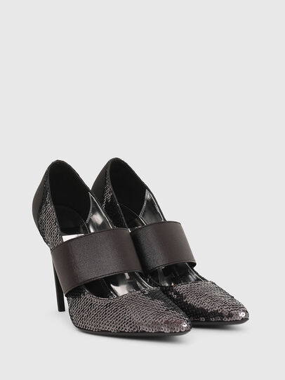Diesel - D-SLANTY HHE, Black/Silver - Heels - Image 2