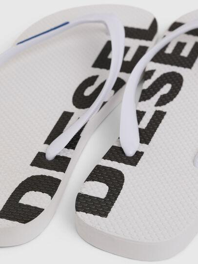 Diesel - SA-BRIIAN, White/Black - Slippers - Image 4