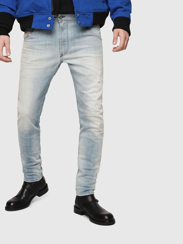 Diesel - Krooley JoggJeans 087AB, Medium blue - Jeans - Image 1