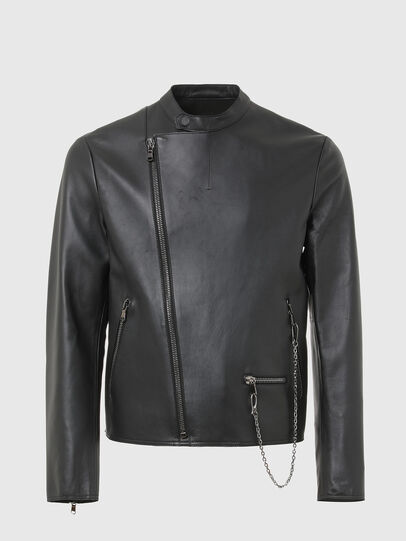 Diesel - L-LIAM, Black - Leather jackets - Image 1