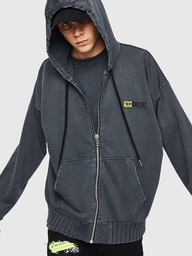 Diesel - DXF-S-ALBY, Black/Grey - Sweaters - Image 4