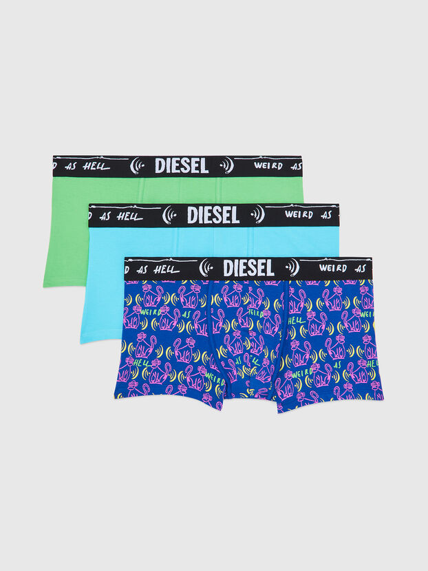 UMBX-DAMIENTHREEPACK, Blue/Green - Trunks