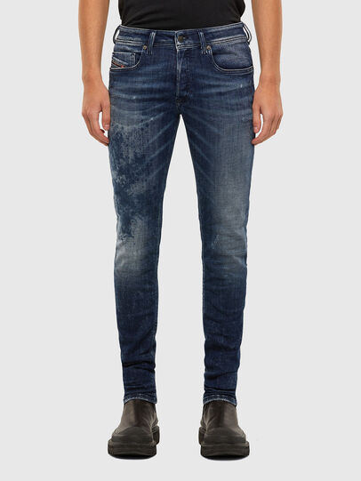 Diesel - Sleenker 009JM, Dark Blue - Jeans - Image 1