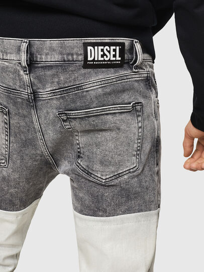 Diesel - D-Strukt 069GK, Black/Dark grey - Jeans - Image 5