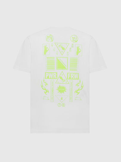 Diesel - T-JUST-SLITS-X84, White - T-Shirts - Image 2