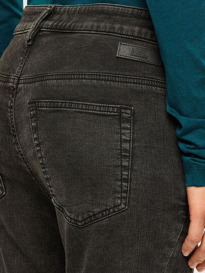 Diesel - Fayza JoggJeans 009HM, Black/Dark grey - Jeans - Image 4