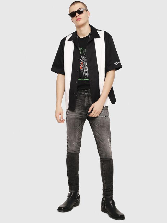 Diesel - S-KINGI, Black/White - Shirts - Image 5