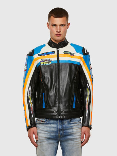 Diesel - ASTARS-LPATCH-1A-B, Black - Leather jackets - Image 1