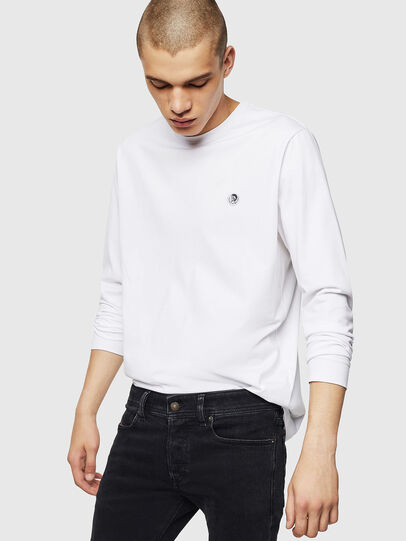 Diesel - T-JUSTY-LS, White - T-Shirts - Image 4