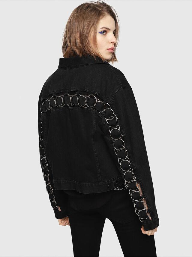 Diesel - DE-POPPY-X, Black Jeans - Denim Jackets - Image 2