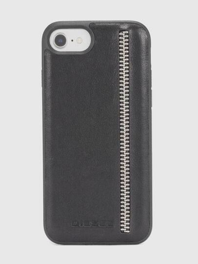 Diesel - ZIP BLACK LEATHER IPHONE 8/7/6s/6 CASE,  - Cases - Image 2