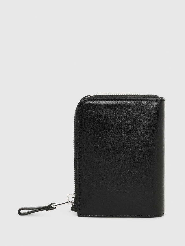 Diesel - L-12ZIP, Black - Small Wallets - Image 2