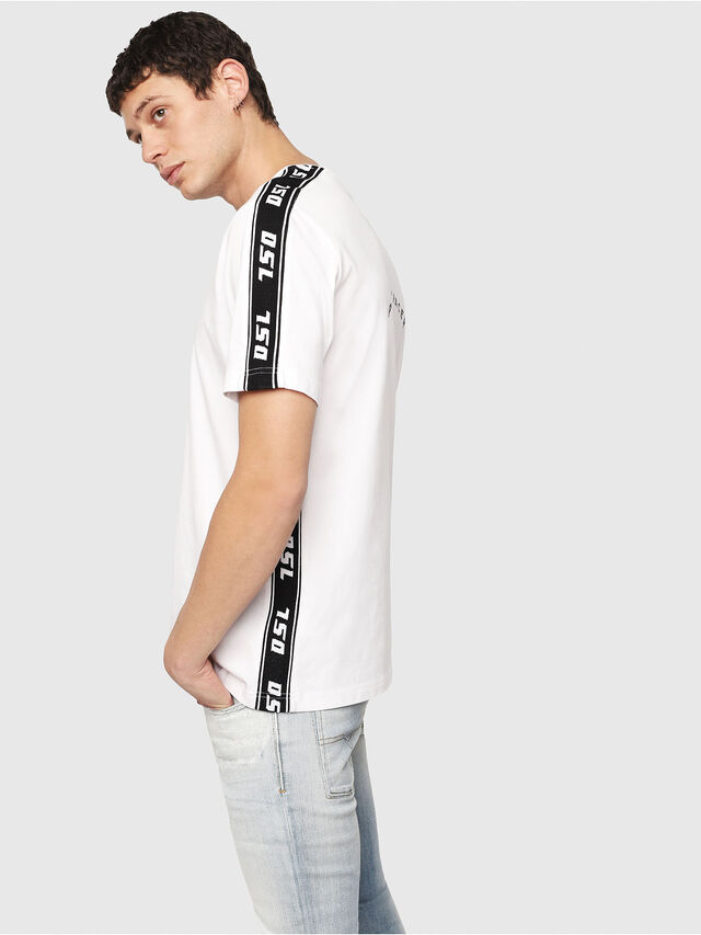 Diesel - T-JUST-RACE, White/Black - T-Shirts - Image 3