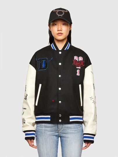Diesel - CL-L-COHEN-O, Black - Leather jackets - Image 2
