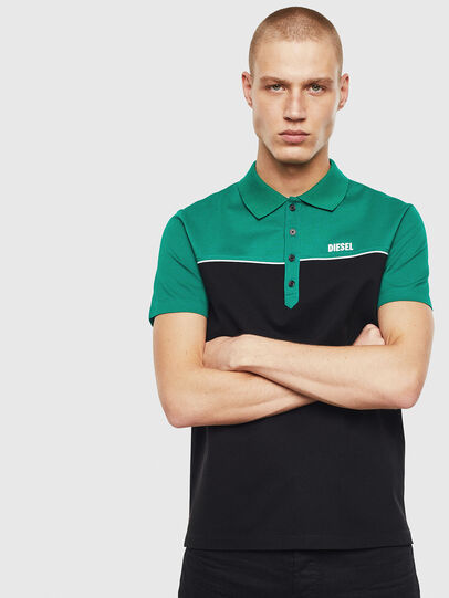 Diesel - T-RALFY-BIC, Green/Black - Polos - Image 1