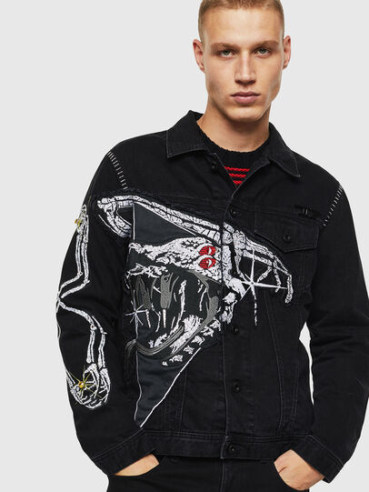 Diesel - NHILL-SXY1, Black - Denim Jackets - Image 1