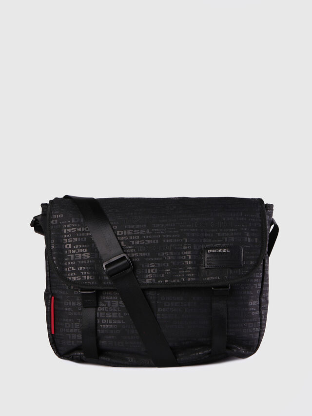 Diesel - F-DISCOVER MESSENGER, Black/Red - Crossbody Bags - Image 1
