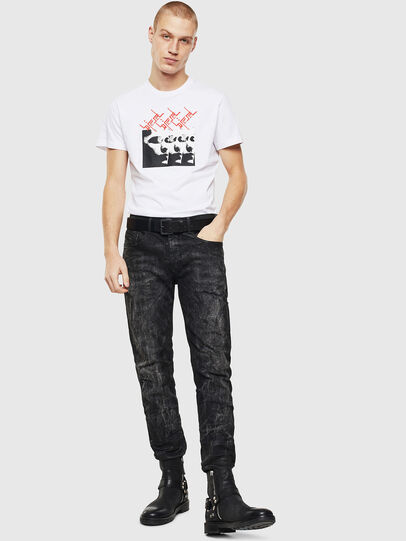Diesel - T-DIEGO-J12, White/Black - T-Shirts - Image 4