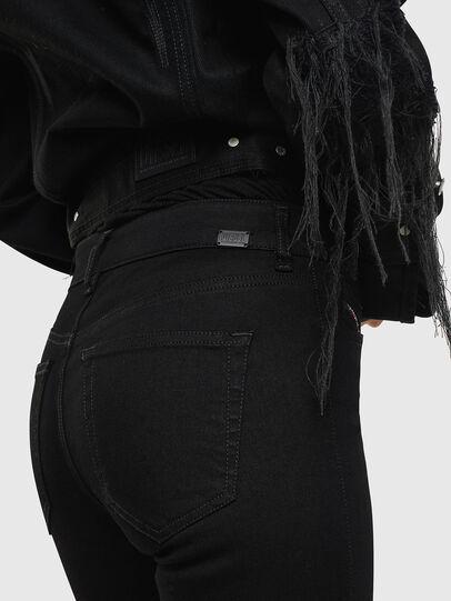 Diesel - Slandy Zip 069EF, Black/Dark grey - Jeans - Image 6