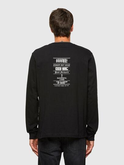 Diesel - T-JUST-LS-N61, Black - T-Shirts - Image 2
