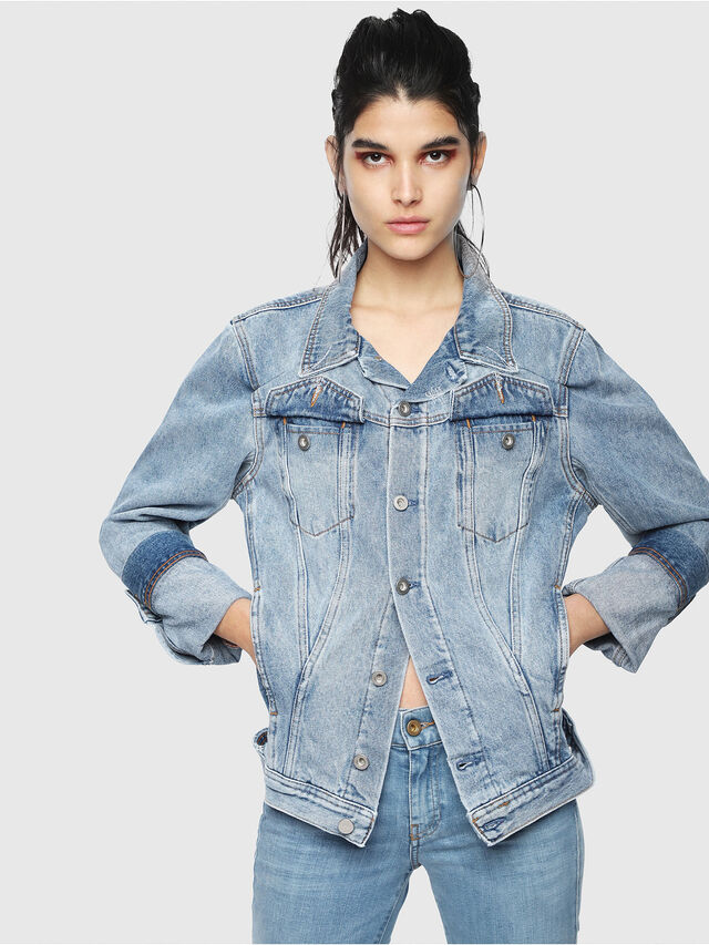 Diesel - DE-NALINI, Blue Jeans - Denim Jackets - Image 1
