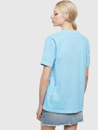 Diesel - T-JUST-NEON-S1, Azure - T-Shirts - Image 4