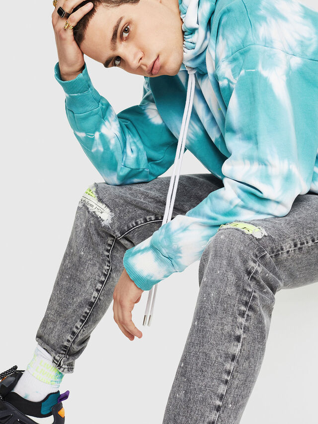 Diesel - DXF-S-ALBY-1, White/Blue - Sweaters - Image 5