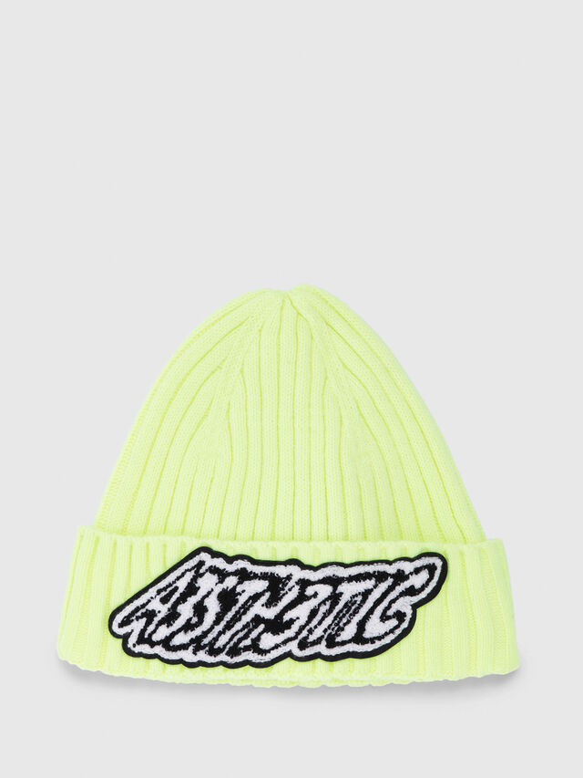 Diesel - K-DIEGO, Yellow Fluo - Knit caps - Image 1