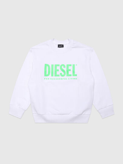 Diesel - SCREWDIVISION-LOGOX, White - Sweaters - Image 1