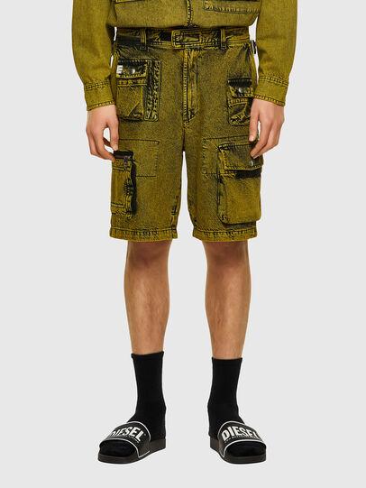Diesel - D-CYAN-S-SP, Green - Shorts - Image 1