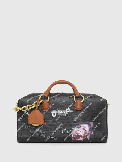 Diesel - TYLEBAG R, Black/Green - Travel Bags - Image 1