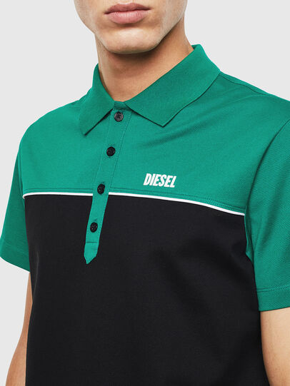 Diesel - T-RALFY-BIC, Green/Black - Polos - Image 3
