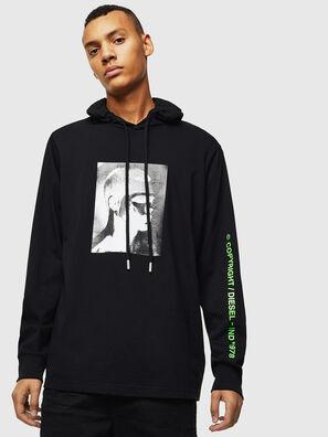 T-JUST-LS-HOOD-J5, Black - T-Shirts