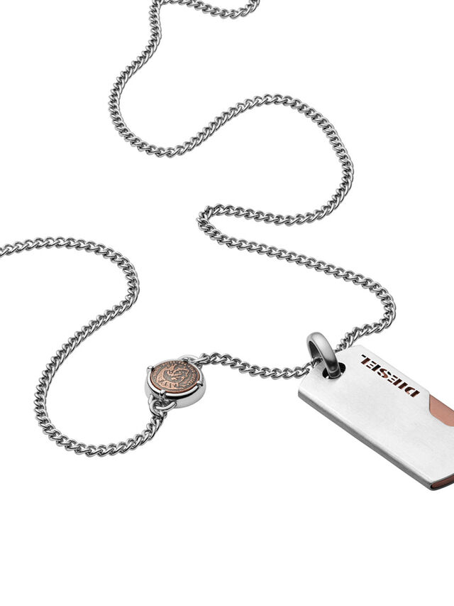 Diesel NECKLACE DX1078, Silver - Necklaces - Image 1