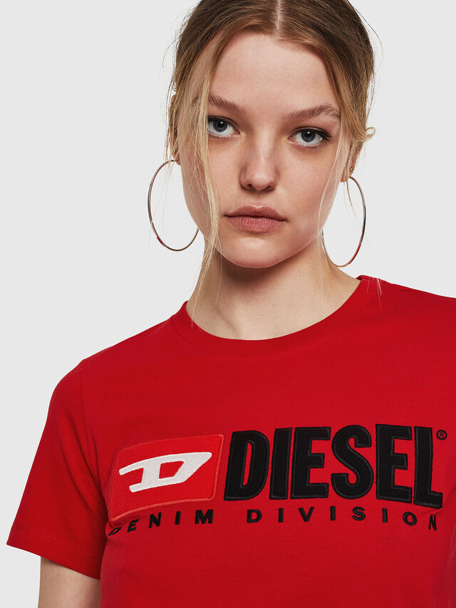 Diesel - T-SILY-DIVISION, Fire Red - T-Shirts - Image 3
