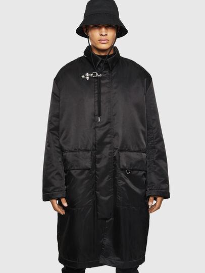 Diesel - W-ADAM, Black - Winter Jackets - Image 1