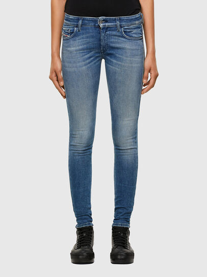 Diesel - Slandy Low 009JI, Light Blue - Jeans - Image 1