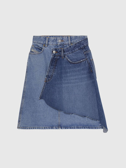 Diesel - DE-TOBY, Light Blue - Skirts - Image 1